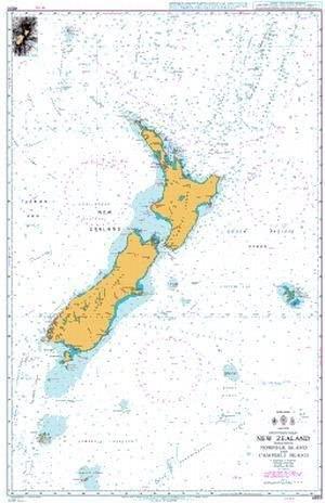 UKHO BA Chart 4600: New Zealand Including Norfolk Island and Campbell Island