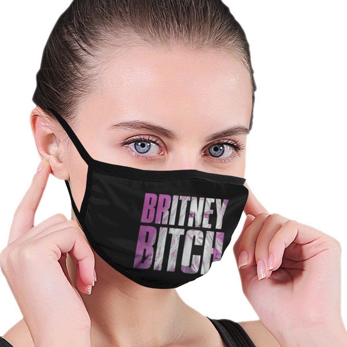 Nsafinhwv Britney Spears Britney Bitch Face Breathable Comfy Mouth Unisex Half Face Comfortable Reusable for Men Women
