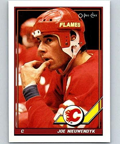 1991-92 O-Pee-Chee #223 Joe Nieuwendyk Mint Hockey NHL Flames