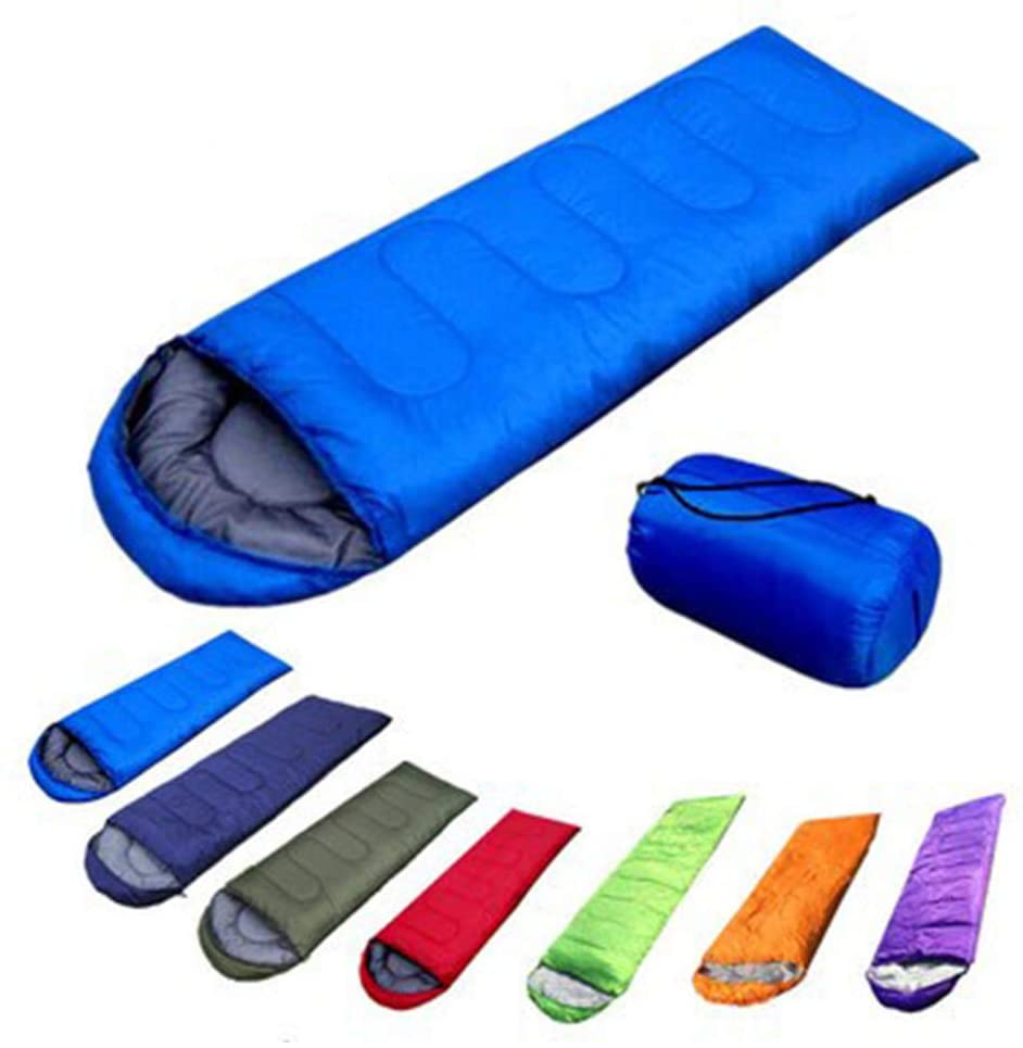 DSstyles Camping Sleeping Bag,Portable Lightweight Envelope Sleeping Bag with Compression Sack for Traveling Camping Hiking Outdoors Navy 0.7kg