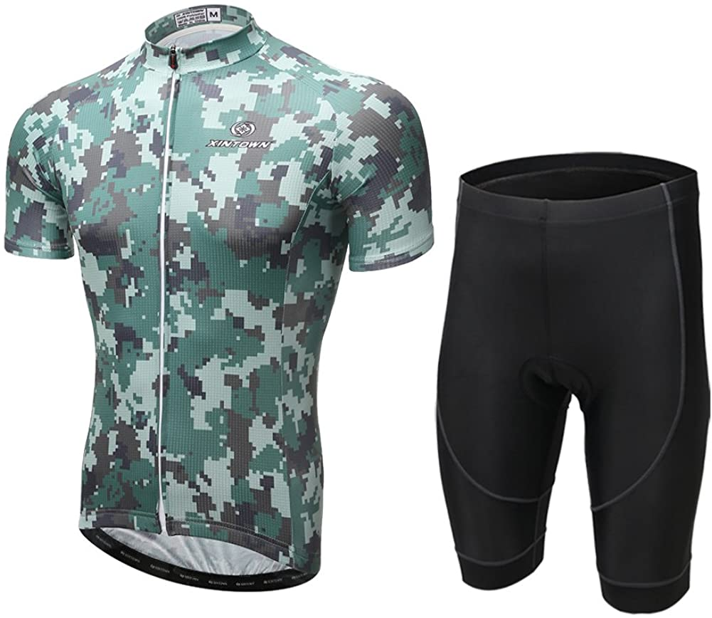 Xintown Cycling Jerseys Men Bike Shirts Camouflage Biking Shorts Clothing
