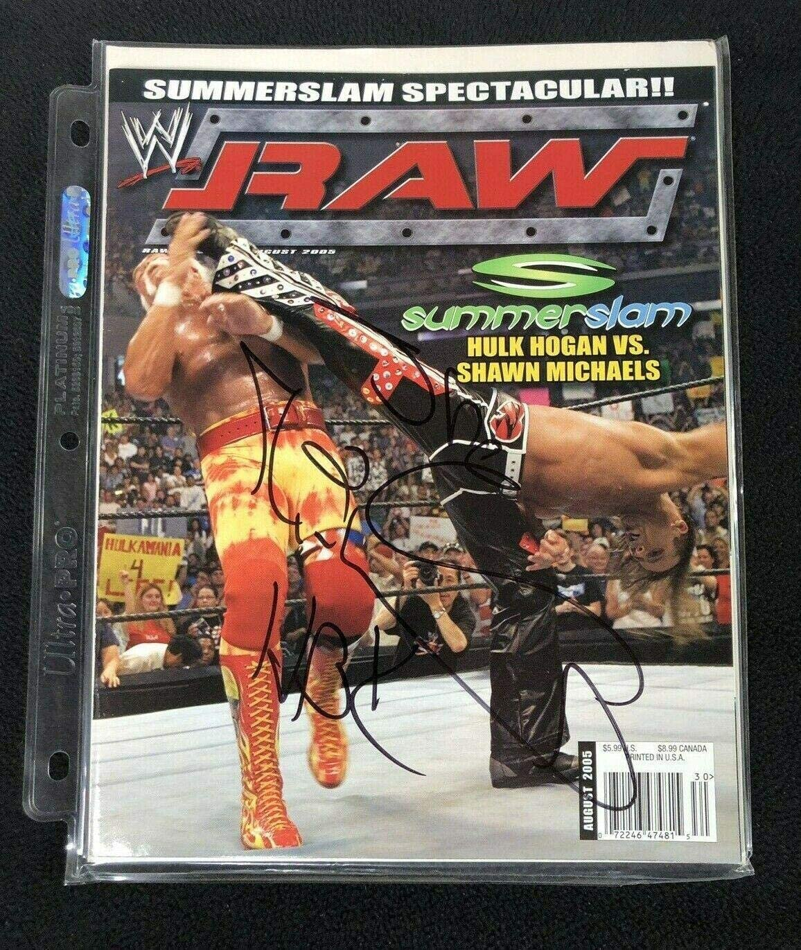 Shawn Michaels Signed Wwe Raw Magazine August 2005 - Autographed Wrestling Miscellaneous Items