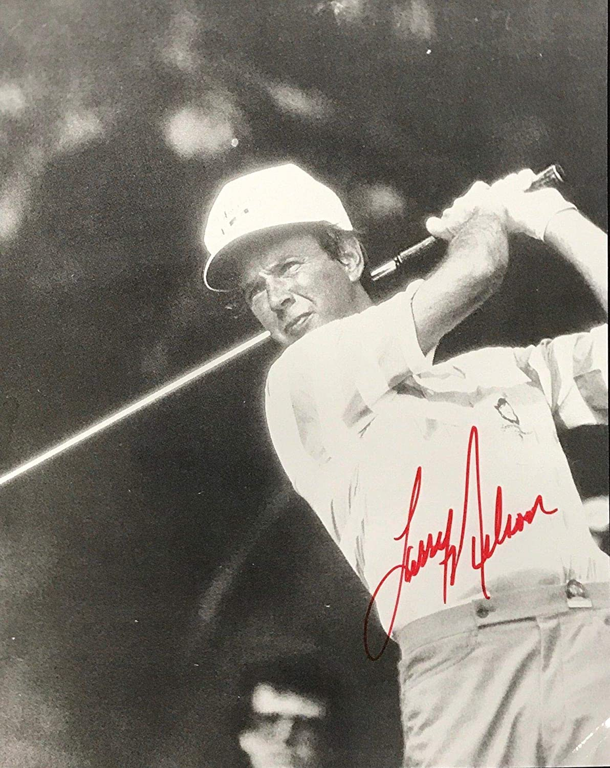 Larry Nelson Signed Golf 8x9 Photo - Autographed Golf Equipment