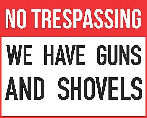 iCandy Combat No Trespassing Guns and Shovels Print Targets