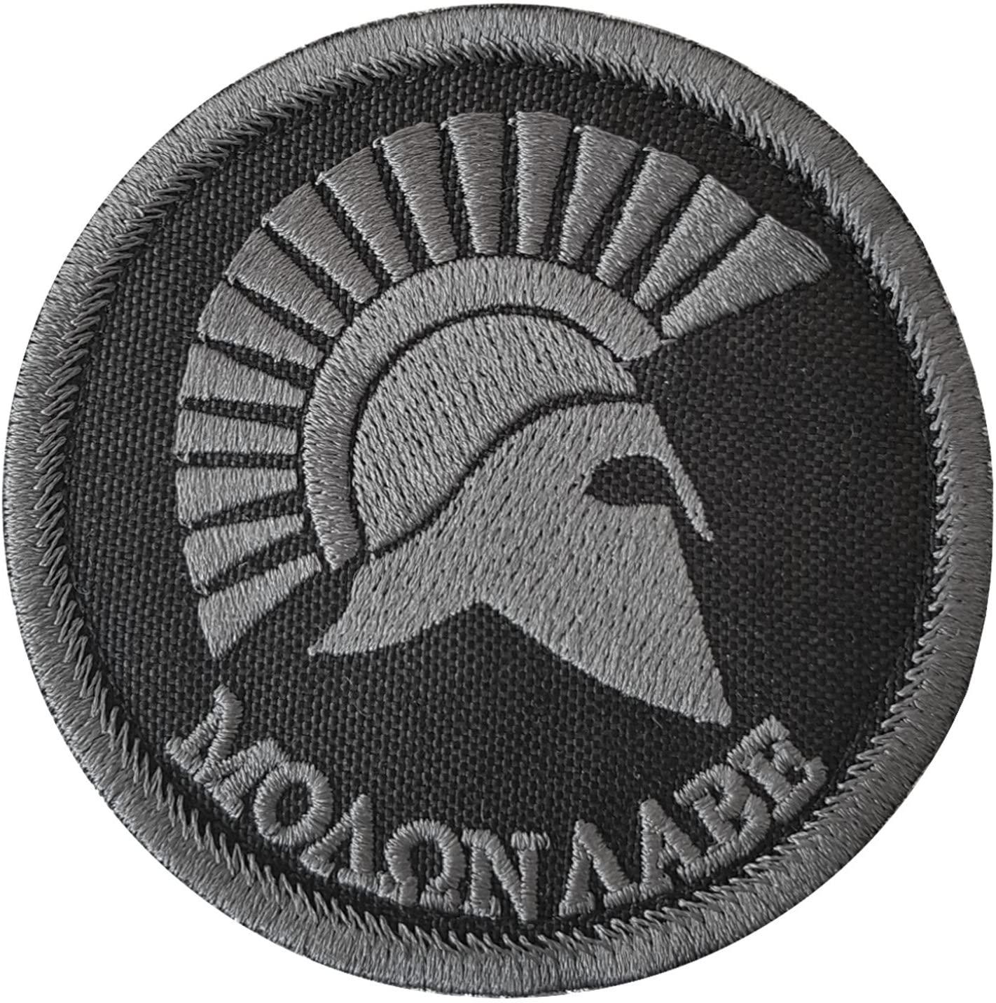 LEGEEON Molon Labe ACU Blackout Spartan Helmet Morale Tactical Sew Iron on Patch