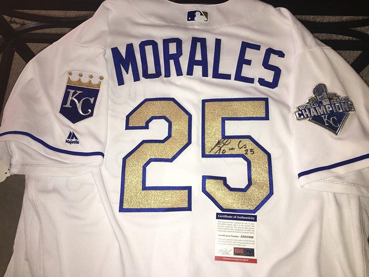 Signed Kendrys Morales Jersey - Team Issued Star - PSA/DNA Certified - Autographed MLB Jerseys