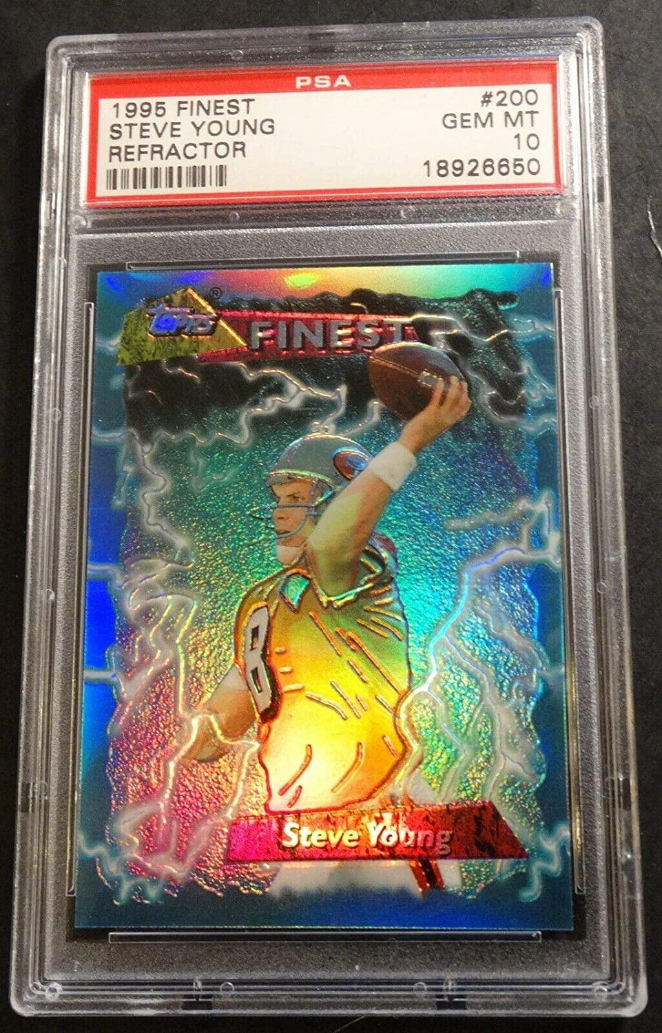 1995 STEVE YOUNG FINEST REFRACTOR #200 FORTY NINERS HOF PSA 10 POP 4
