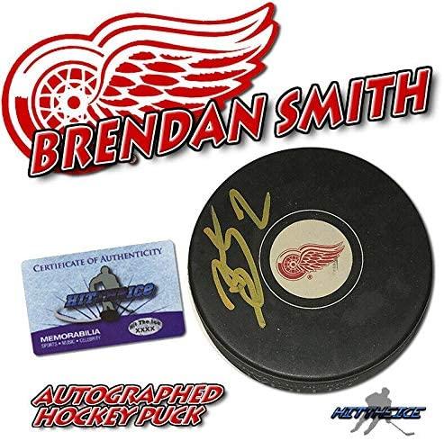 Autographed Brendan Smith Puck - w COA #2 - Autographed NHL Pucks