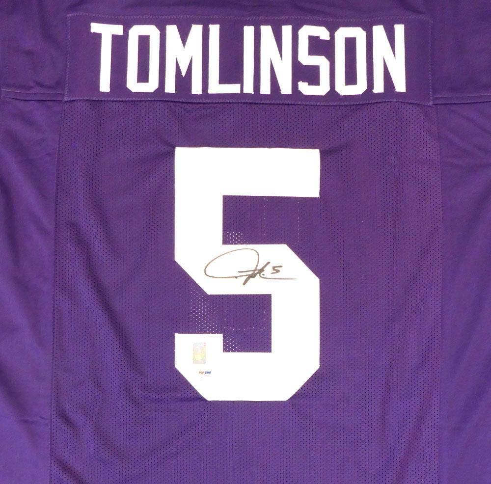 Signed LaDainian Tomlinson Jersey - Purple Stock #132389 - PSA/DNA Certified - Autographed College Jerseys