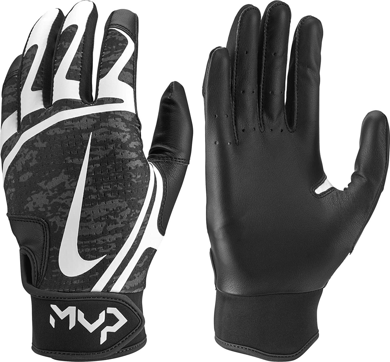 Nike Womens Hyperdiamond Edge Batting Gloves (Black, Medium)