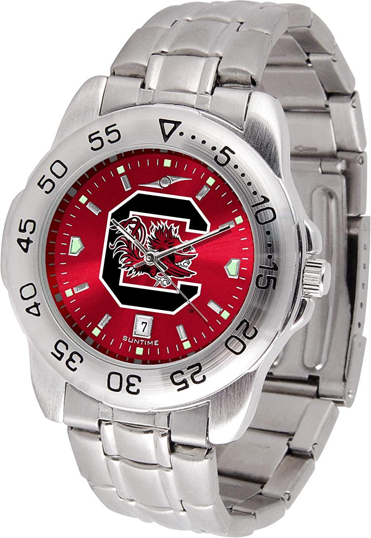 Linkswalker Mens Saint Cloud State Huskies Sport Steel Anochrome Watch