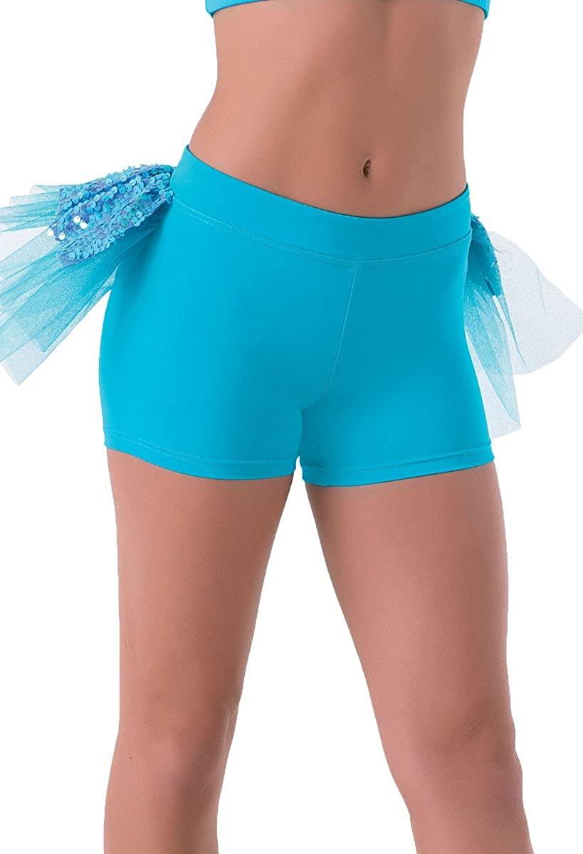 Balera Dance Shorts Iridescent Ultra Sparkle Back Bustle