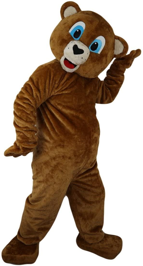 Brown Bear Ursusarctos Mascot Costume Cartoon Character Adult Sz Real Picture