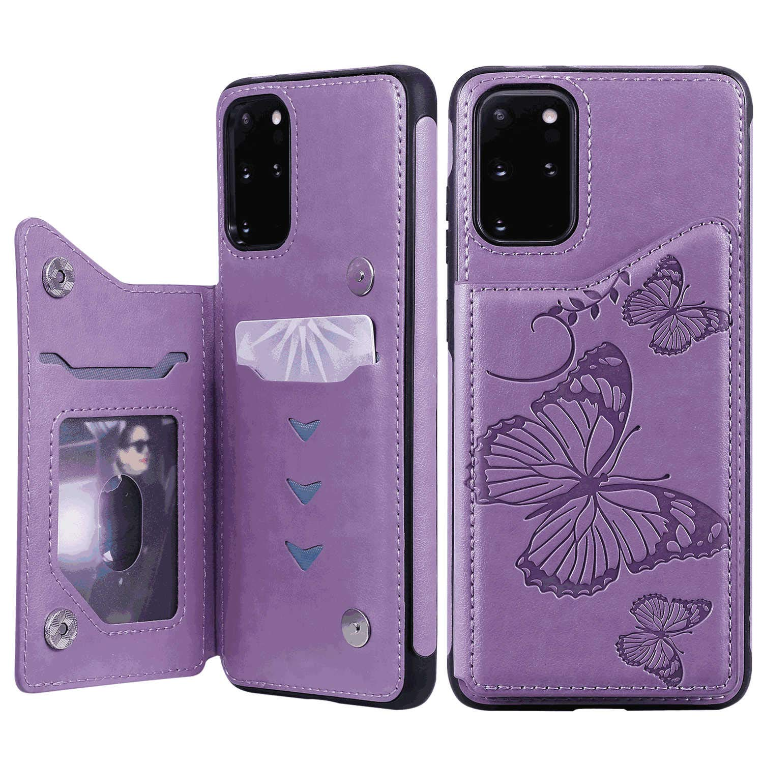 PU Leather Flip Cover Compatible with iPhone 11 Pro Max, Elegant Blue Wallet Case for iPhone 11 Pro Max