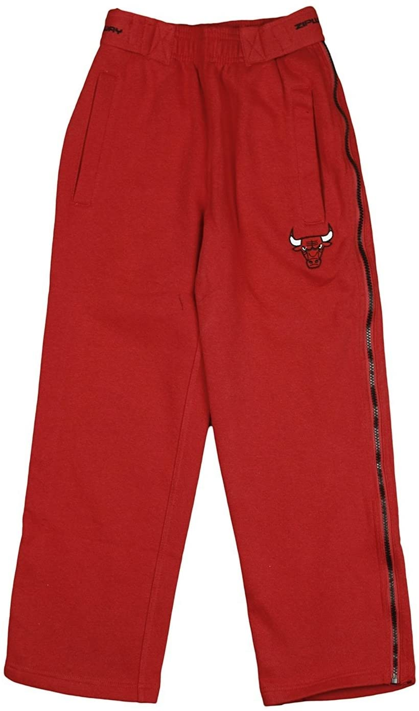 Zipway Chicago Bulls NBA Big Boys Tear-Away Fleece Pants, Red