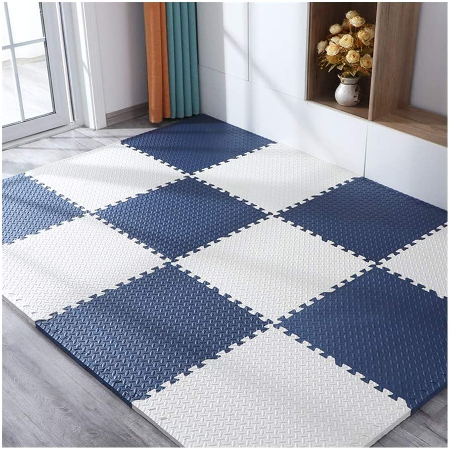XSDAA Foam Puzzle Mat Waterproof Large Baby Child Anti-Fall Foam Pad 2 Color Combinations, 60x60x1.2CM (Color : L, Size : 60x60x1.2cm-8 pcs)