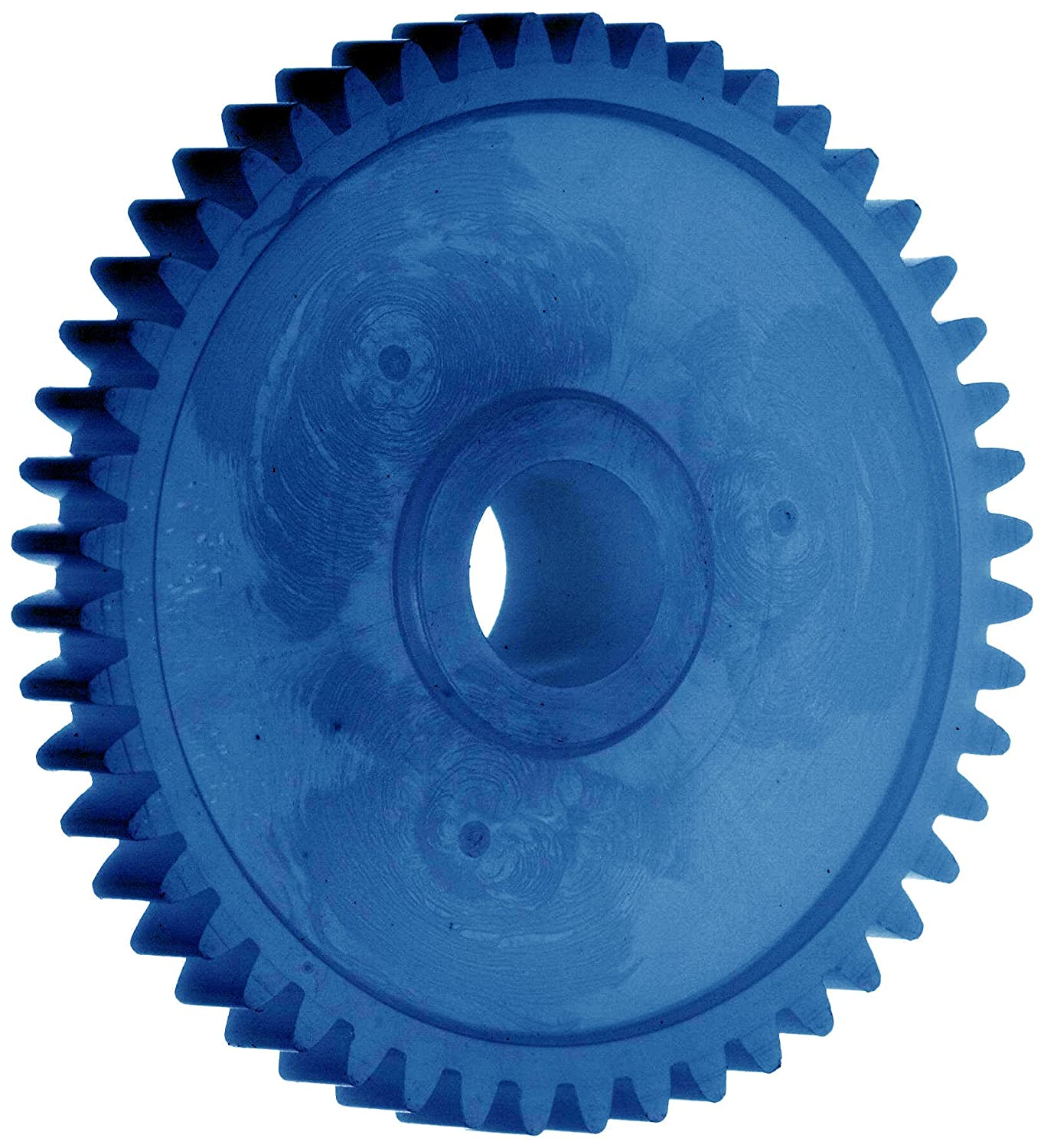 AM2B40 Ametric® Metric Injection Molded Acetal Resin Spur Gear with Hub, 2 Metric Module Tooth Profile, 40 Teeth, 20 Degree Pressure Angle, 84 mm Outside Diameter, 26 mm Hub Diameter, 12 +/-1mm Pilot Bore, 15 mm Tooth Face Width, (Mfg Code 1-025)