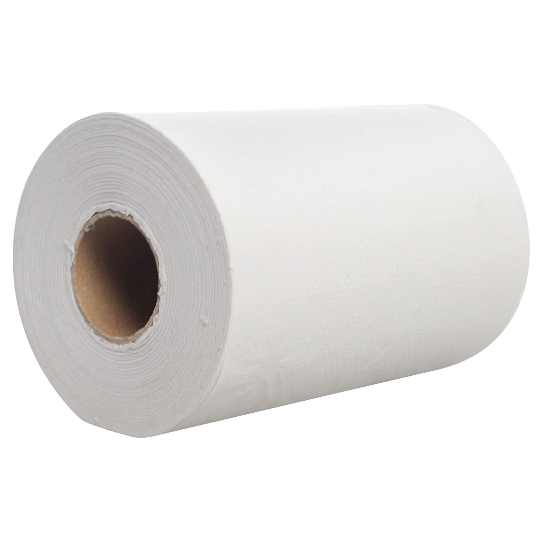 Karat JS-RTW350 Junior Paper Towel Roll, White (Pack of 12)