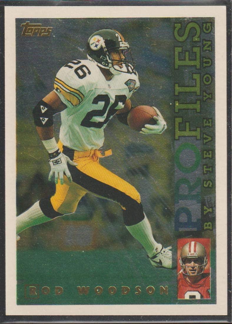 1995 Topps Rod Woodson Steelers Profiles Insert Football Card #PF-3