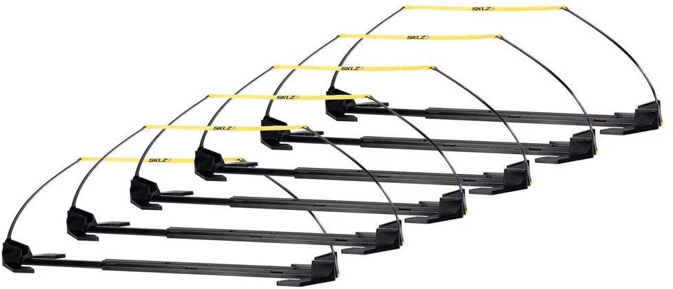 SKLZ Speed Hurdle Pro Set- Multi-Height Speed and Agility Hurdles (Set of 6) (Renewed)