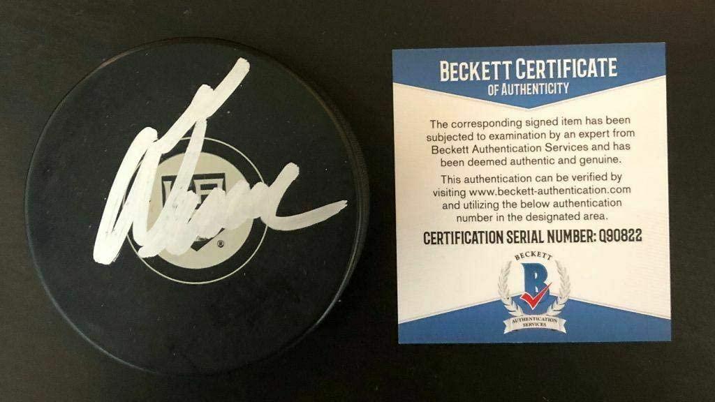 Alex Turcotte Autographed Hockey Puck - Beckett Coa Q90822 - Beckett Authentication