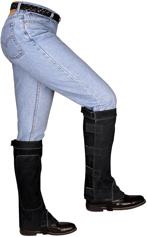 Weaver Leather Half Chaps, Black, Small