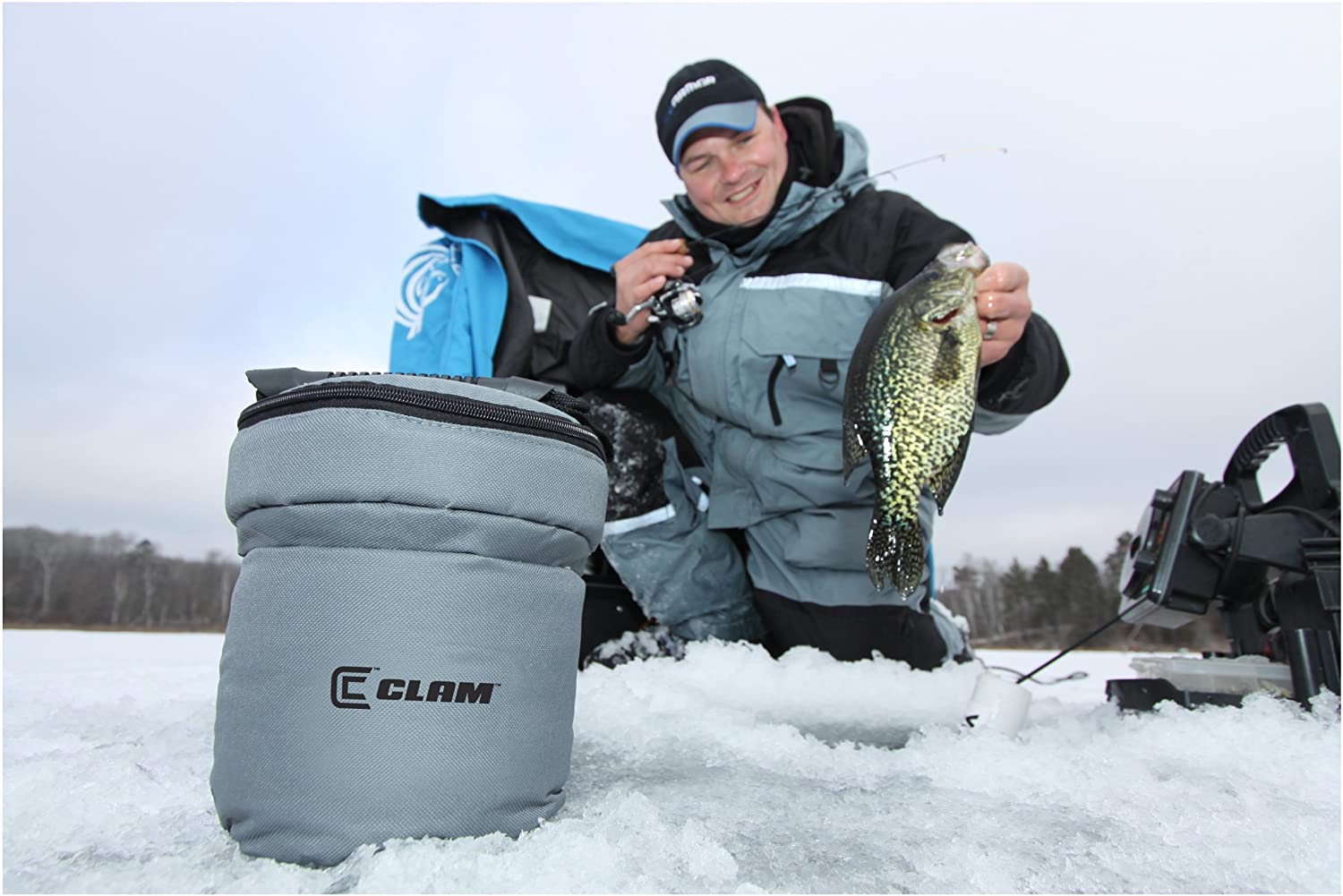 Clam (CLAM0) Bait Bucket - 1 1/4 Gal. with Insulated Carry Case