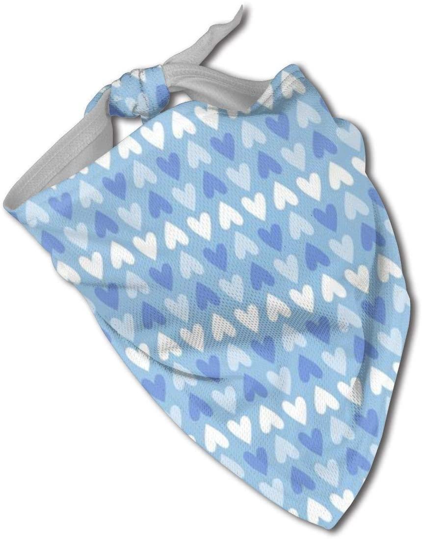 Ruin Blue Heart Pattern Triangle Neckerchief Puppy Triangle Triangle Bibs Scarfs for Pet Dogs