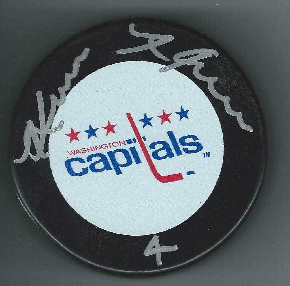 Kevin Hatcher Signed Puck - Autographed NHL Pucks