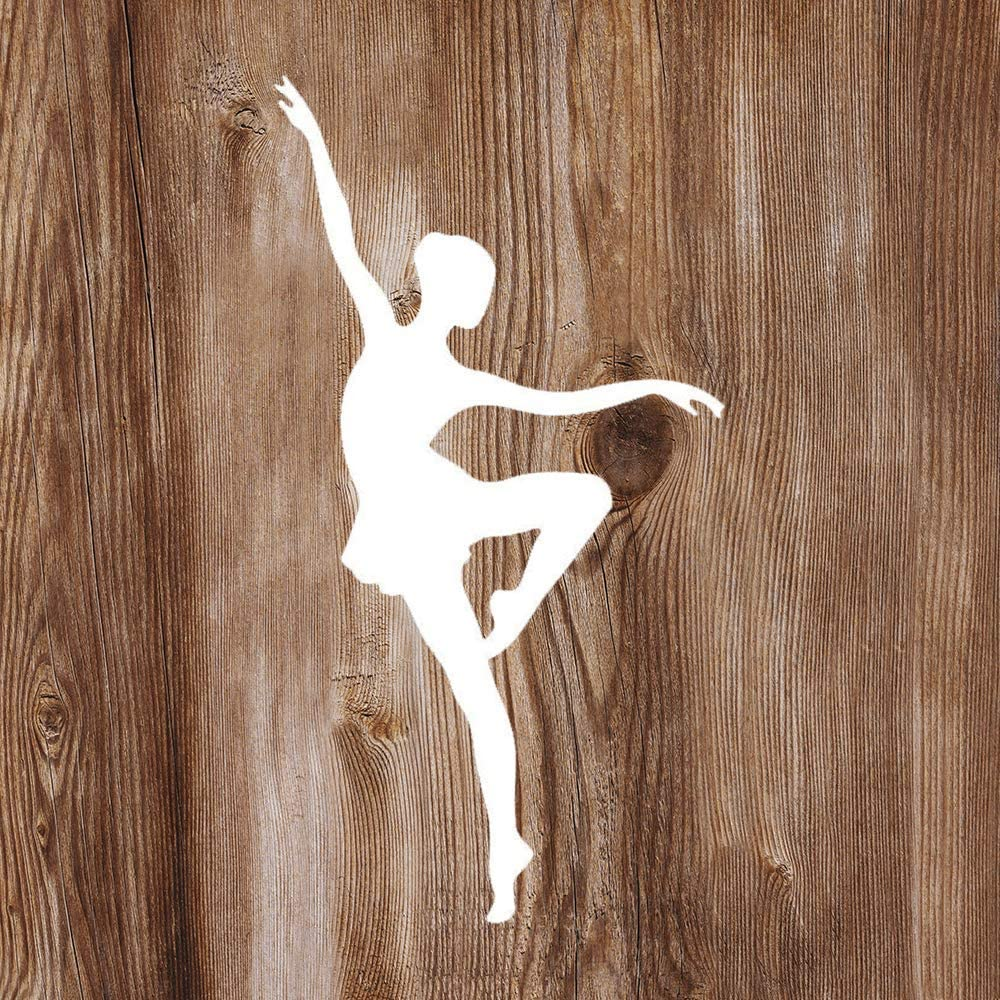 None Brand Ballet Dancer Elegant Vinyl Sticker Graphic Bumper Tumbler Decal for Vehicles Car Truck Windows Laptop MacBook Phone Wall Door