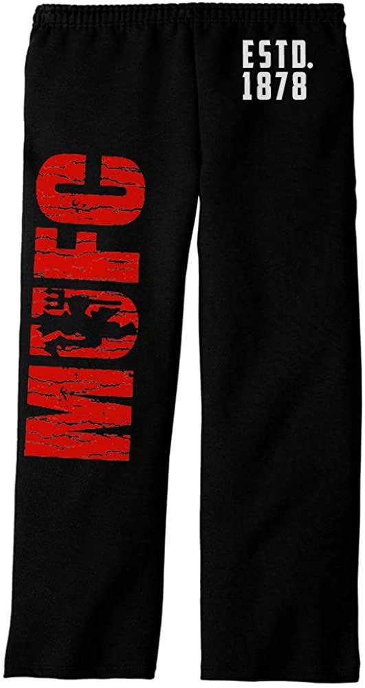 MUFC ESTD 1878 Black Adult Sweatpants (XL, Black)