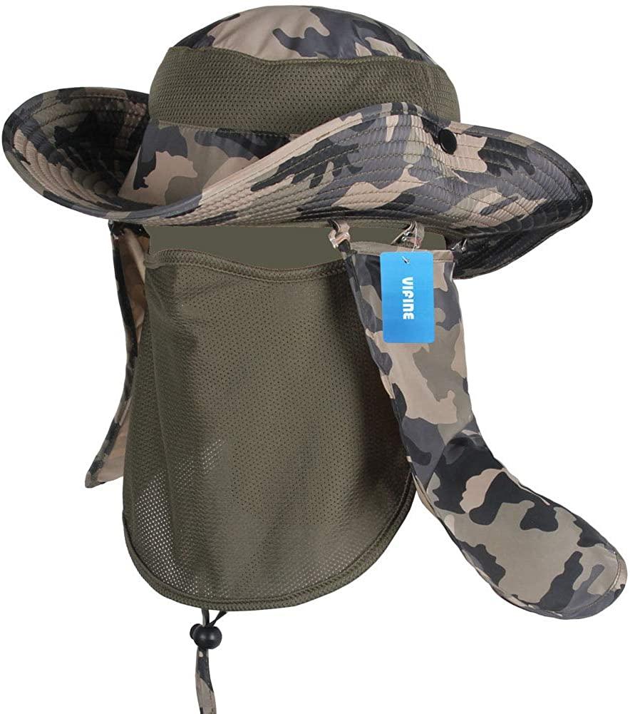 Sun Cap Fishing Hat for Men Women, Sun Hat Wide Brim, Boonie Hat