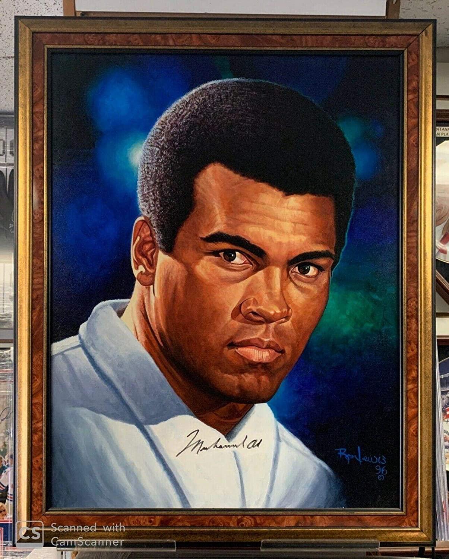Muhammad Ali Signed Original Ron Lewis Oil Painting 29