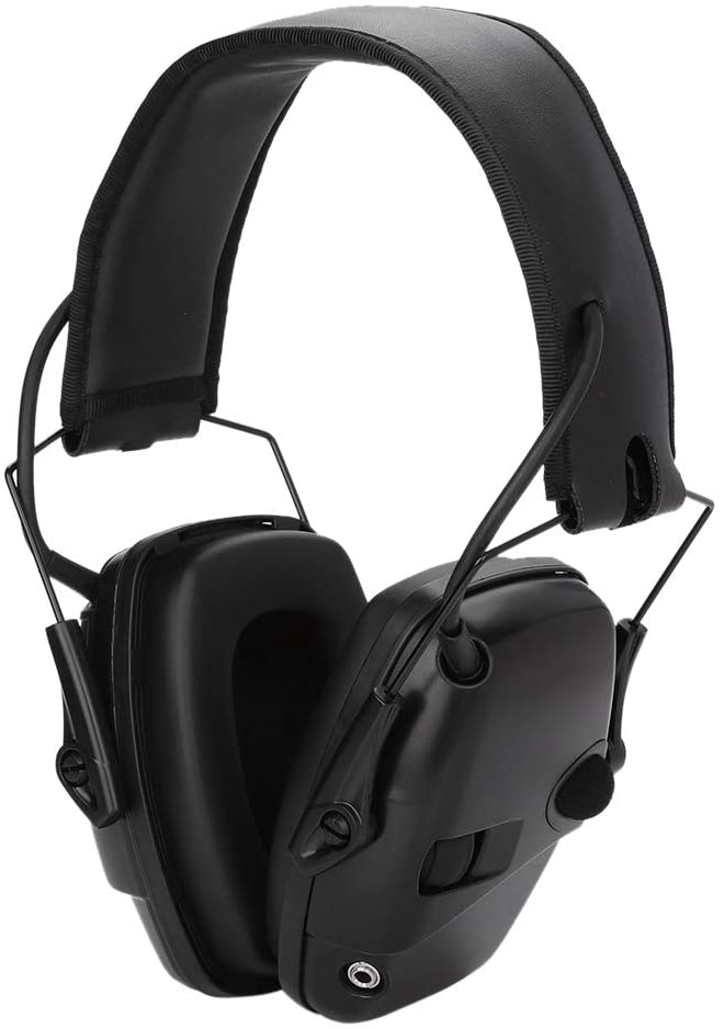 ASHATA lectronic Shooting Earmuff, Sport Sound Amplification Electronic Shooting Earmuff Shooting Noise-Proof Hunting Earmuff, Noise Reduction Sound for Shooting and Hunting(Black)