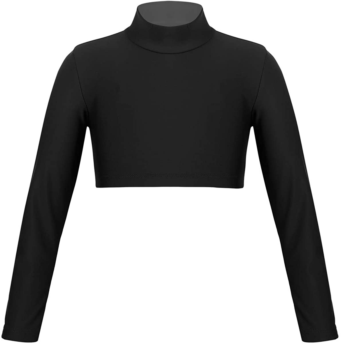 JanJean Girls Athletic Shirt Long Sleeve Cheerleading Top for Ballet Dance Yoga Gymnastic Stage Performance Workout