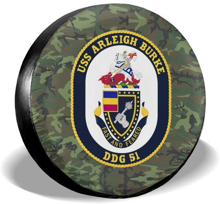 SL6NNG Us Navy Submarine Insignia Classic Accessories Universal Fit Spare Wheel Tire Cover