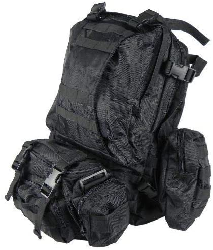 Ant Enterprises 3 Day Assault Pack Black Special Ops Backpack Military MOLLE Rucksack (Heavy Duty)