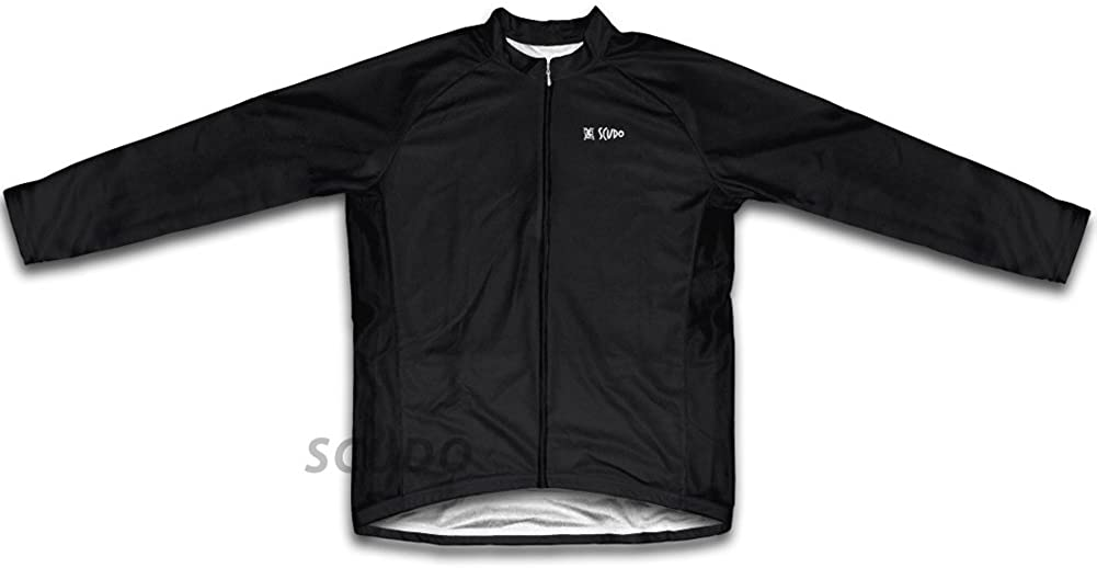ScudoPro Black Long Sleeve Cycling Jersey for Men
