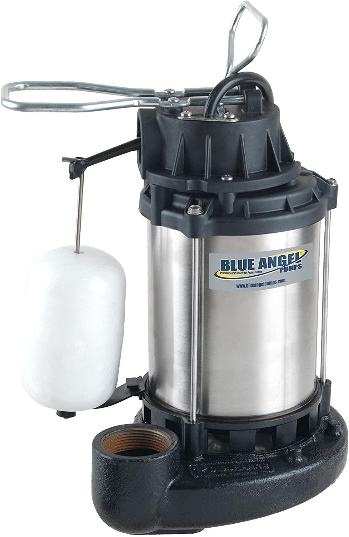 Blue Angel Pumps SSF33S 1/3 HP Premium Series Submersible Stainless Steel Sump Pump