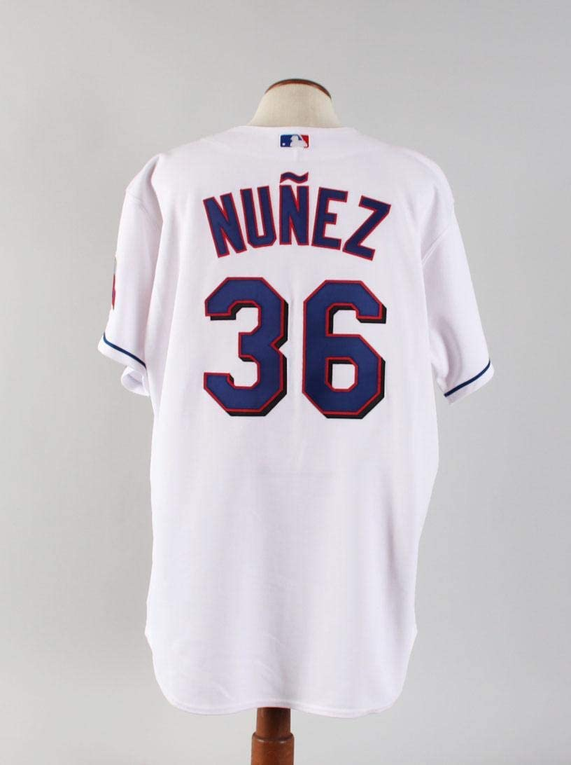 2005 Vladimir Nunez Game-Issued Jersey Texas Rangers - COA Team LOA - MLB Game Used Jerseys