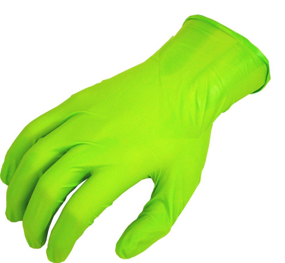 SHOWA N-Dex 7705PFT Accelerator-free Disposable Nitrile Glove, Powder Free, Large (Pack of 100)