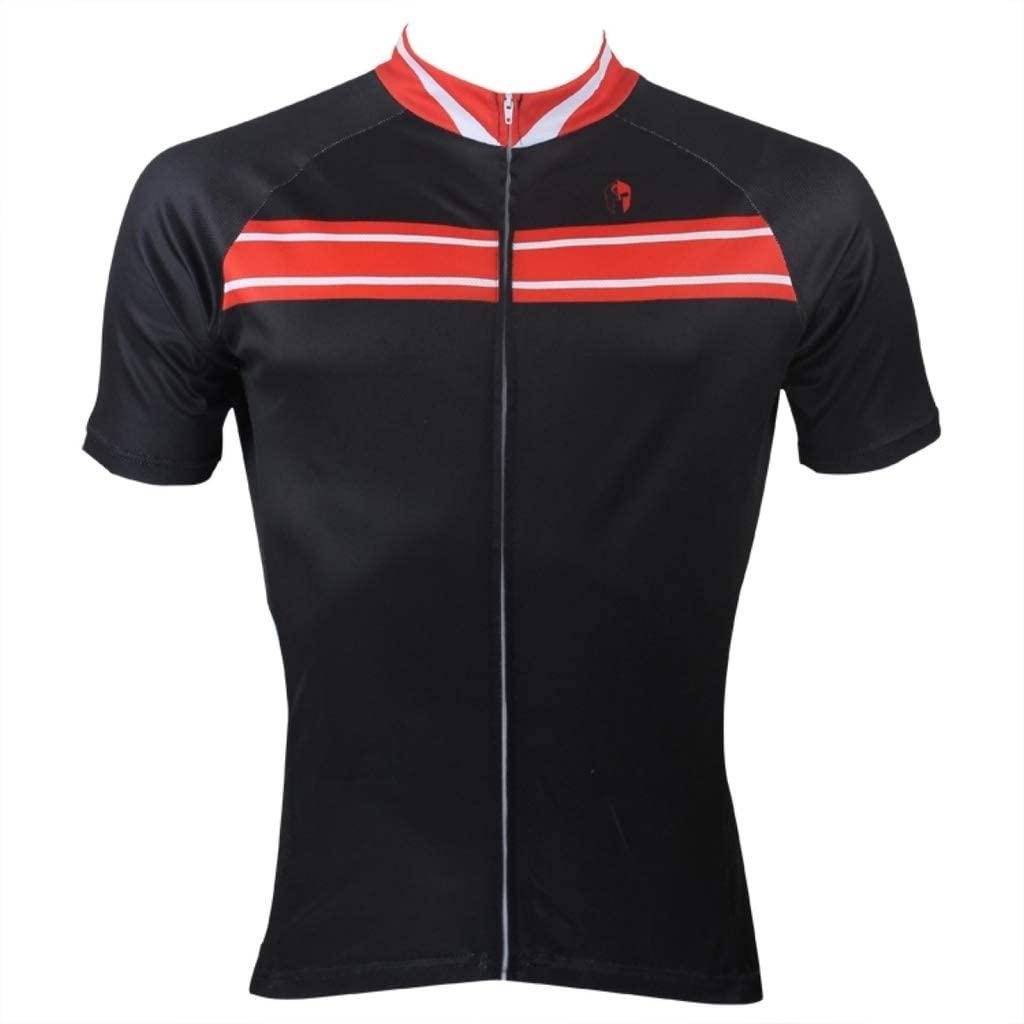 Paladinsport Men's Black Polyester Breathable Short Sleeve Cycling Clothing Size XXXXXL
