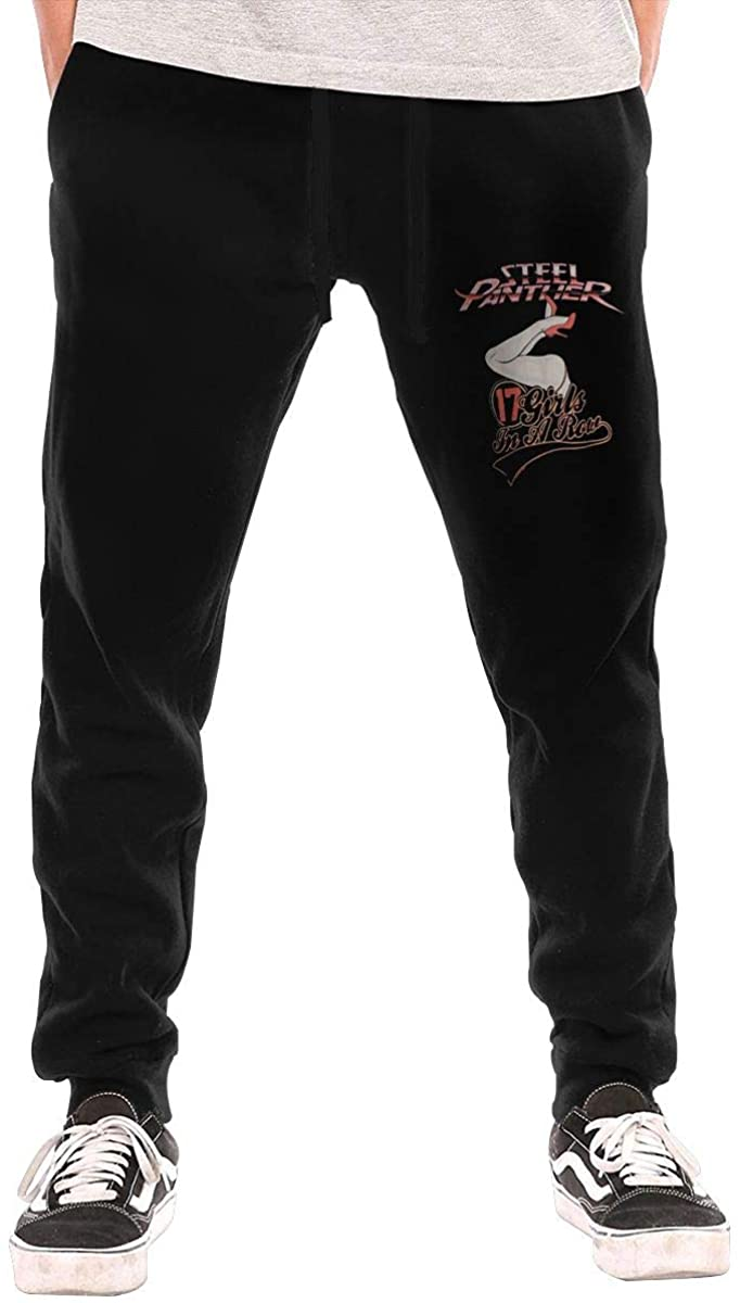 AP.Room Men's Steel Panther Sports Casual Pants Black