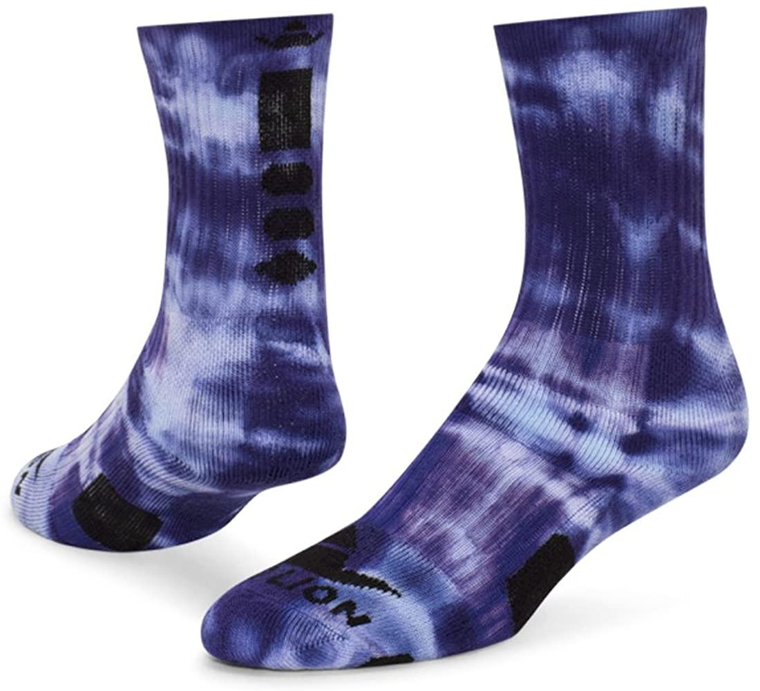 Red Lion Maxim Tie Dye Athletic Socks Purple Tie Dyed Medium