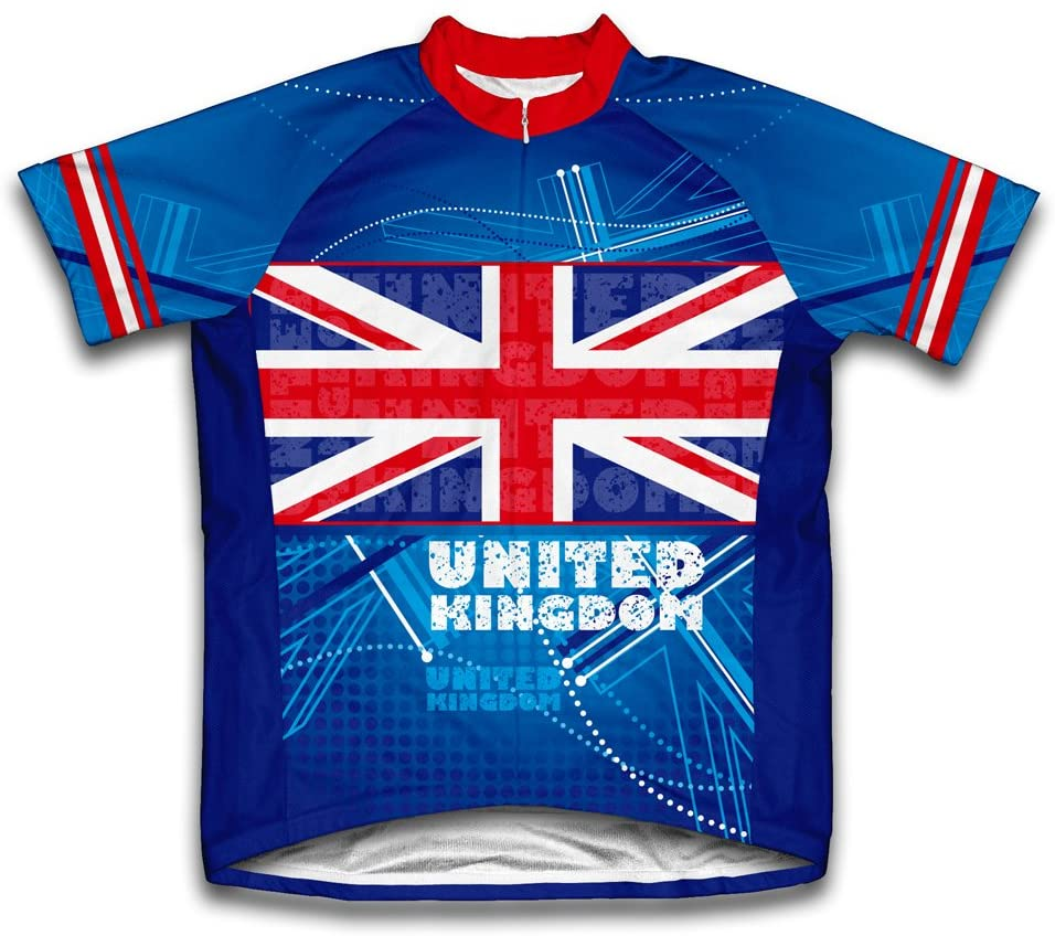 ScudoPro United Kingdom Short Sleeve Cycling Jersey for Youth