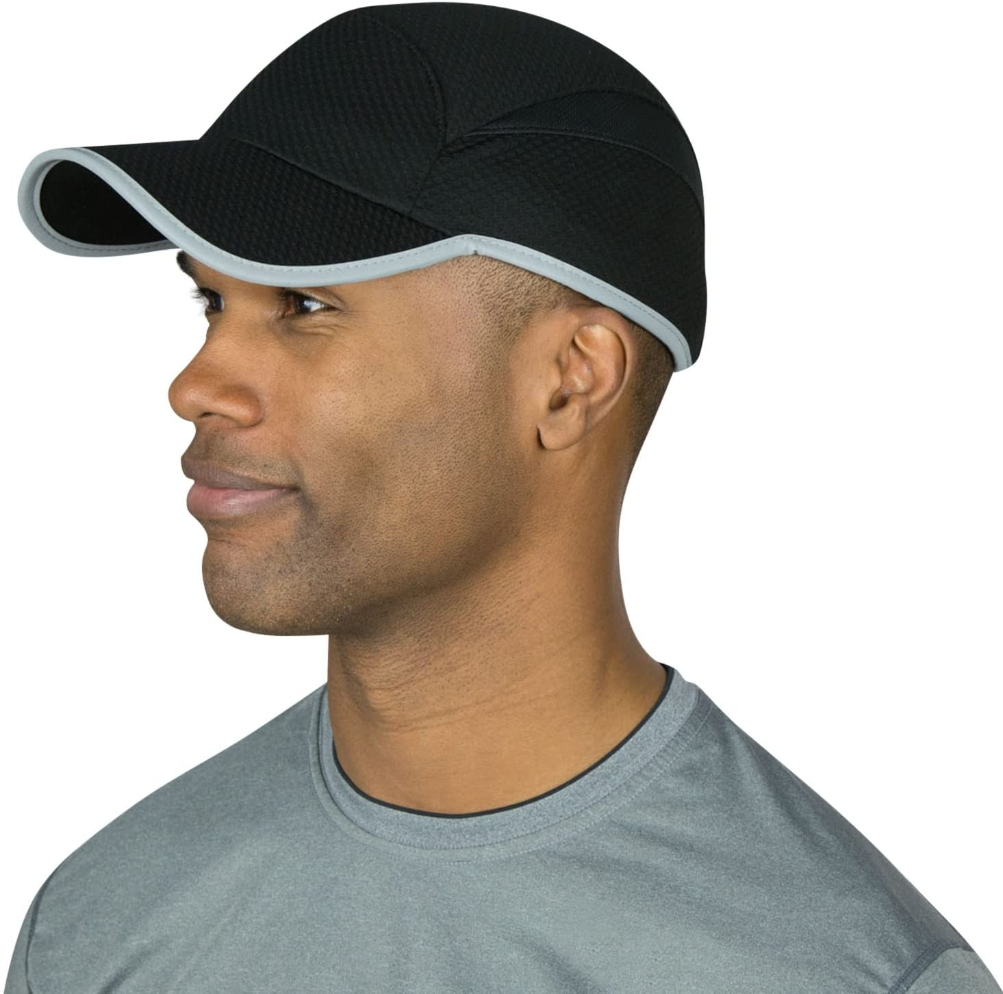 TrailHeads Reflective Running Cap | A Quick Dry Hat for Men | The Flashback 360 Sports Cap - 2 Colors