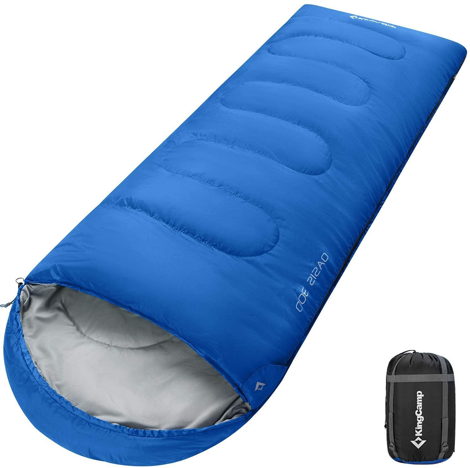 KingCamp XL 4 Season Warm Sleeping Bag for Adults Women Men Youth Camping Hiking Backpacking, Extreme Temperature 8.6℉, 87
