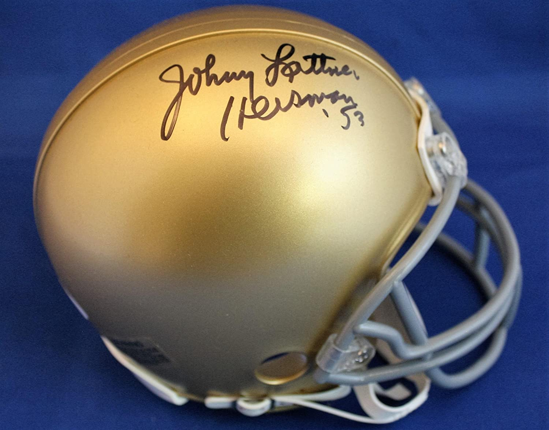 Autographed Johnny Lattner University of Notre Dame mini helmet- w/COA - Autographed College Mini Helmets