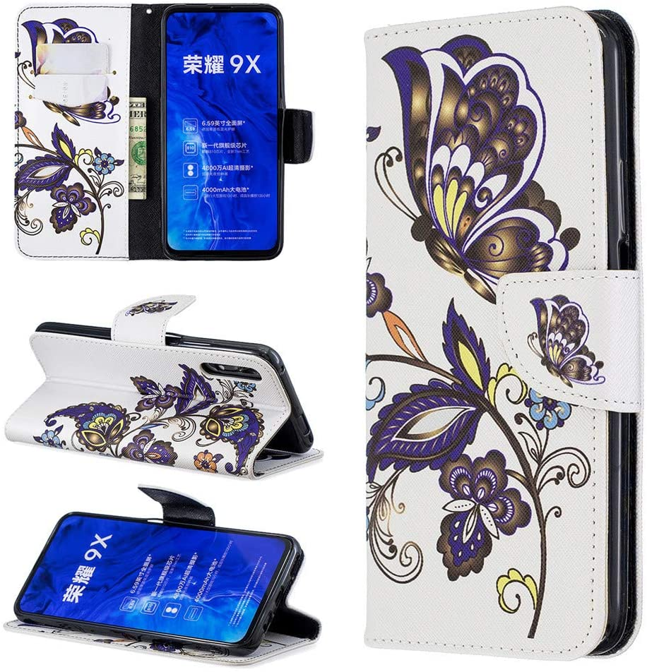 Luckyandery Honor 9X Wallet case Card Holder,Honor 9X flip case Magnetic, Leather Wallet Case,Flip Case Cover with Stand Function & Credit Card Slots for Huawei Honor 9X