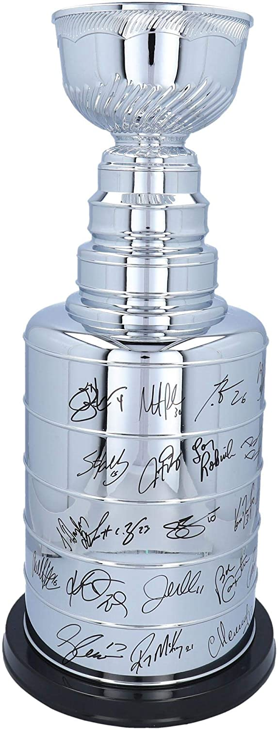 New Jersey Devils 2000 Stanley Cup Champions Autographed 2' Replica Stanley Cup with 20 Signatures - #20 of a Limited Edition of 20 - Fanatics Authentic Certified